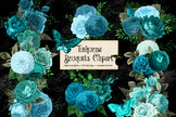 Turquoise Bouquets Clipart