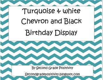 Turquoise Chevron Birthday Set