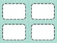 Turquoise Chevron Classroom Labels