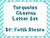Turquoise Chevron Letter Set