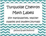 Turquoise Chevron Math Labels