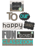 Turquoise & Chevron Welcome to Our Classroom Bulletin Board