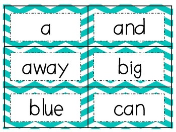 Turquoise Chevron Word Wall