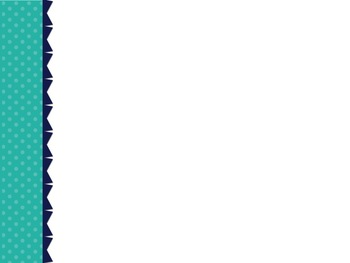 Turquoise Chevron/Dot PowerPoint Template