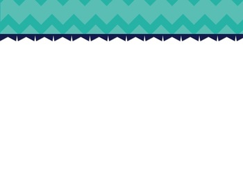 Turquoise Chevron/Dot PowerPoint Template