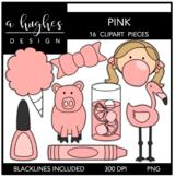 Pink Color Clipart {A Hughes Design}