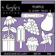 Purple Color Clipart {A Hughes Design}