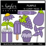 Purple Color Clipart {A Hughes Design}