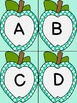 Turquoise Dot Apple Alphabet Letter Flashcards