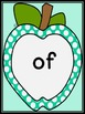Turquoise Dot Apple Dolch First Grade Sight Word Flashcard