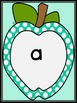 Turquoise Dot Apple  Dolch Pre-Primer Sight Word Flashcard
