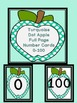 Turquoise Dot Apple Number Flashcards and Posters Bundle 0-100