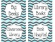 Turquoise & Gray Chevron Classroom Supply Labels
