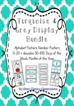 Turquoise & Grey Display Poster Bundle