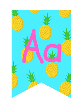 Turquoise Pineapples Printables