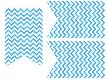 Turquoise, Pink & Yellow Chevron Banners