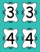 Turquoise Polka Dot Table Numbers