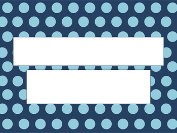 Turquoise Polka Dots On A Navy Background PowerPoint Template