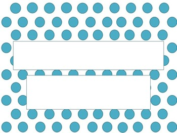 Turquoise Polka Dots PowerPoint Template