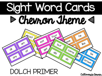 Chevron Sight Words- PRIMER