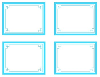 Turquoise Printable Classroom Decor