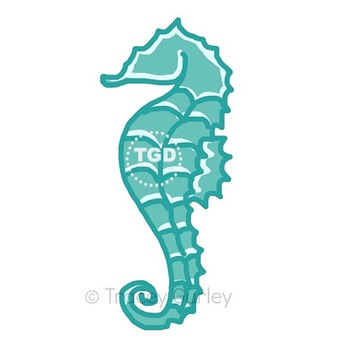 Turquoise Seahorse - turquoise seahorse clip art Printable