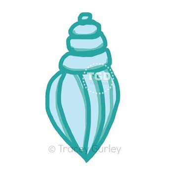 Turquoise Shell - turquoise shell clip art Printable Trace
