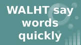 Turquoise Sight Words Slide Show