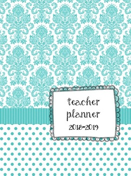 Turquoise Teacher Lesson Planbook