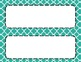 Turquoise Tile Classroom Labels and Tags