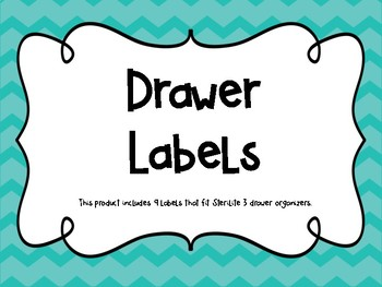 Turquoise Weekly Drawer Labels ~FREEBIE~