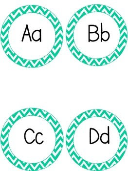 Turquoise Word Wall Headers