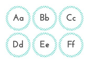 Turquoise Word Wall Letters