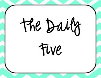 Turquoise and Black Chevron Daily 5 Center Posters