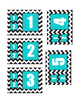 Turquoise and Chevron Bathroom Clip Chart