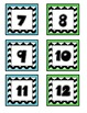 Turquoise and Green Chevron Calendar Pieces
