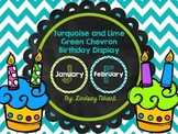 Turquoise and Lime Green Birthday Display