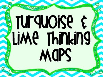 Turquoise and Lime Thinking Maps