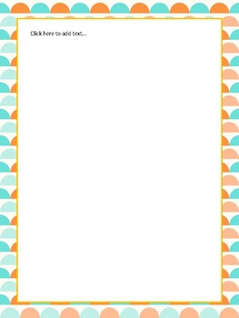 Turquoise and Orange Themed Classroom Pack-FREE