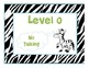Turquoise/Green Zebra Noise Level Signs