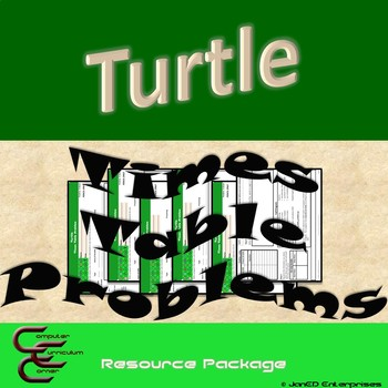 Python Turtle 6A Times Table Word Problems Resource Package ⇨EDITABLE⇦