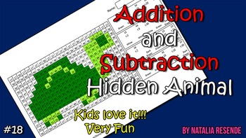Turtle - Addition and Subtraction Mystery Animal - Fun Math