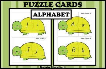 Turtle Alphabet Matching Puzzle Cards