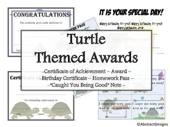 Turtle Awards Set