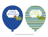Turtle Boy Birthday Balloons