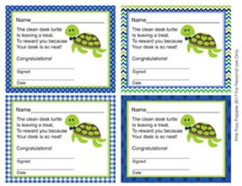 Turtle Boy Clean Desk Awards