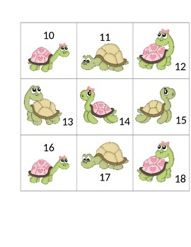 Turtle Calendar Cards