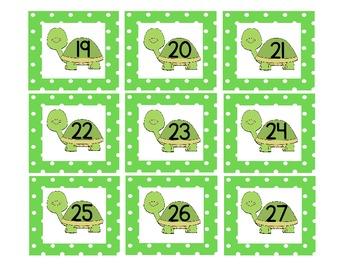 Turtle Calendar Pieces