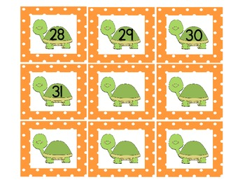 Turtle Calendar Pieces