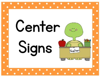 Turtle Center Signs